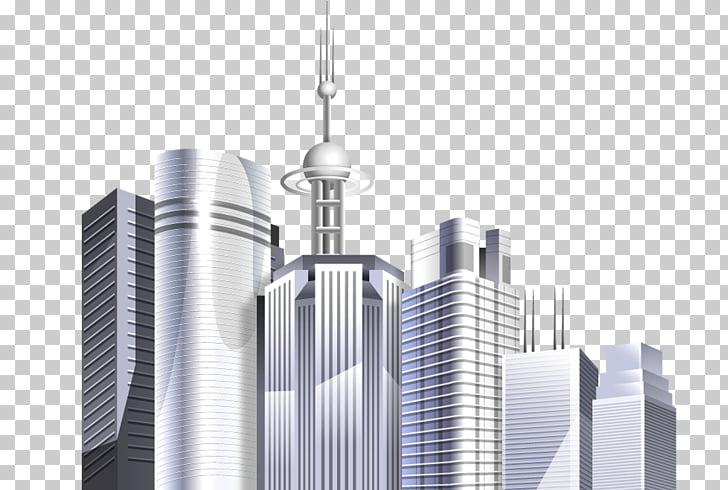 Skyscraper Metropolis Air conditioner, city building PNG.