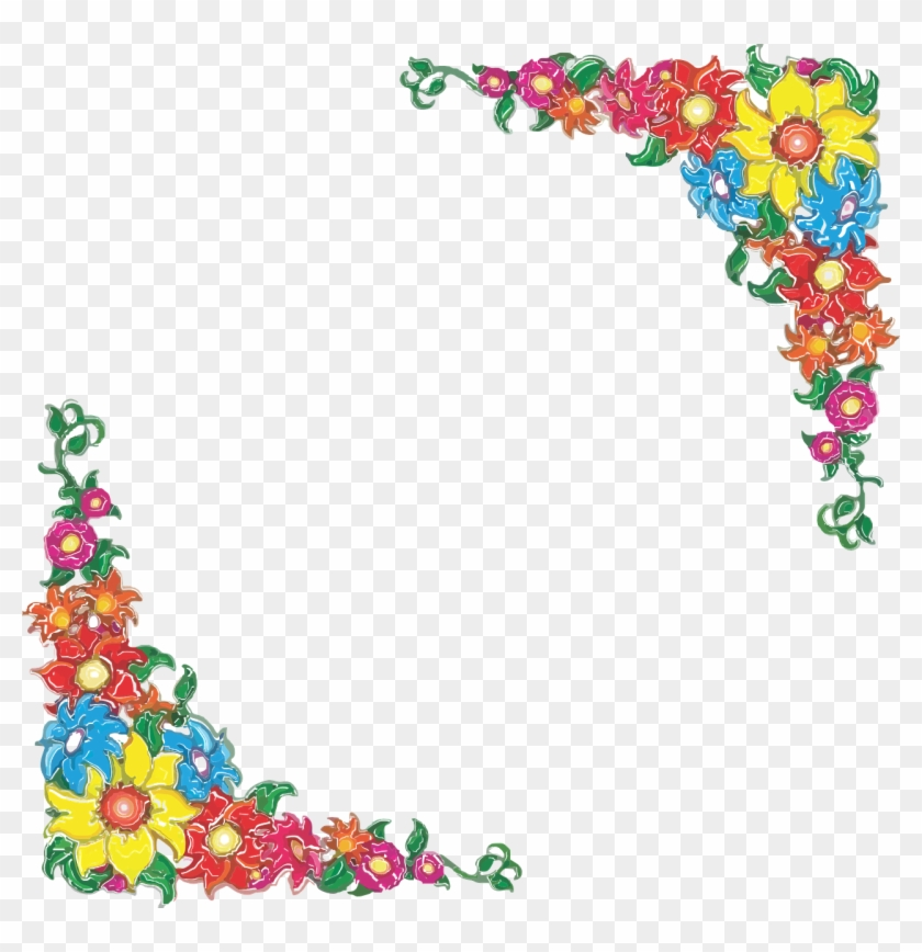 Mexican Flower Border Clip Art, HD Png Download (#1635371.