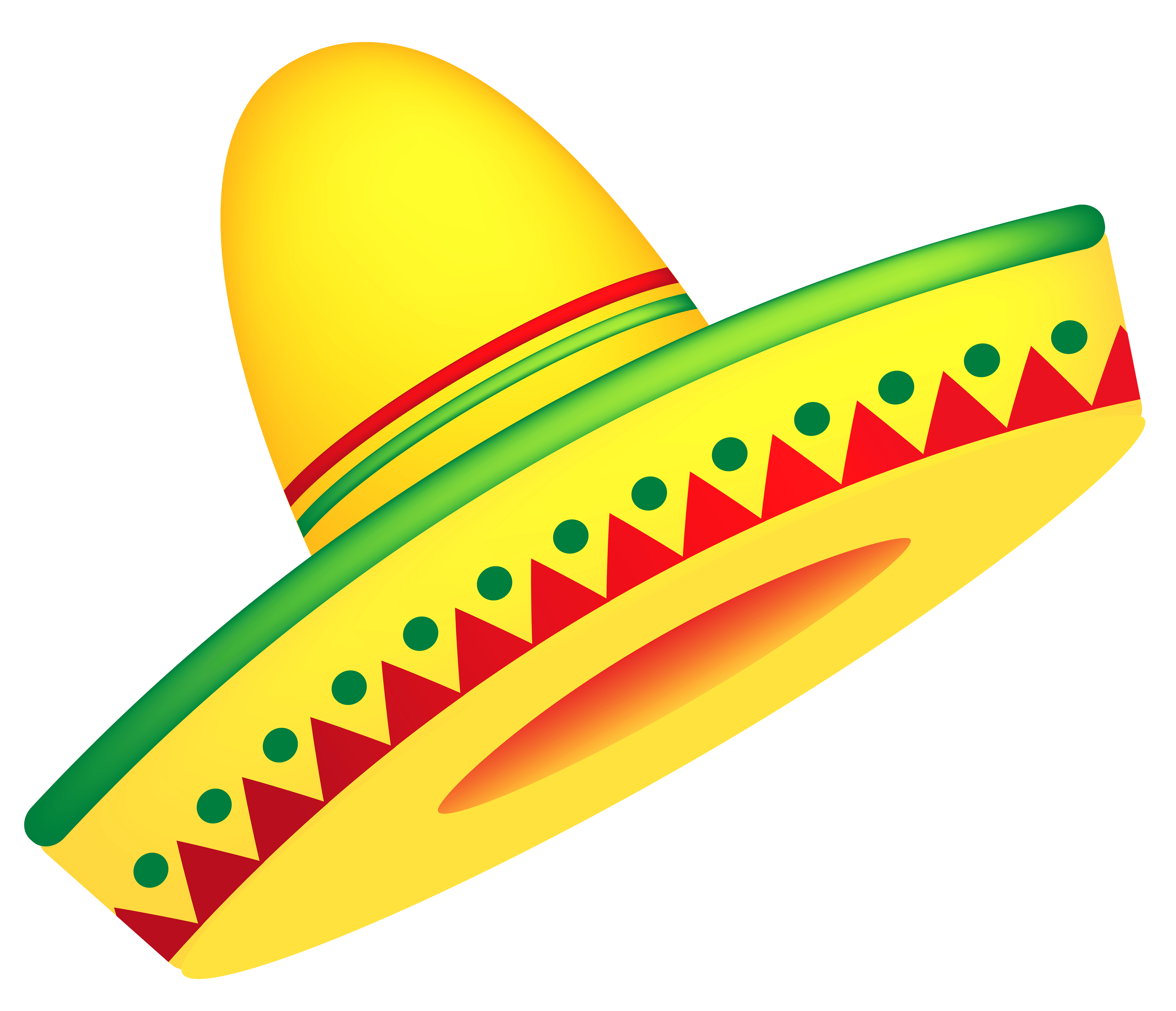 Mexican Sombrero PNG Vector Clipart.