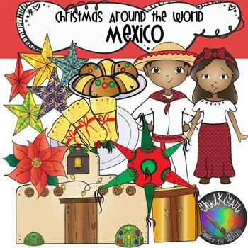 Christmas Around the World Mexico Clip Art.