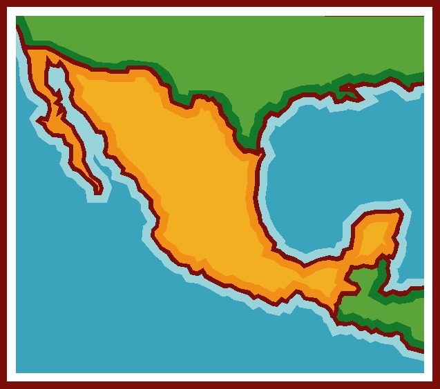 Mexico Map Clipart.