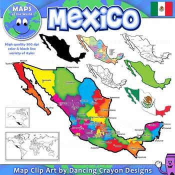 Maps of Mexico: Clip Art Map Set.