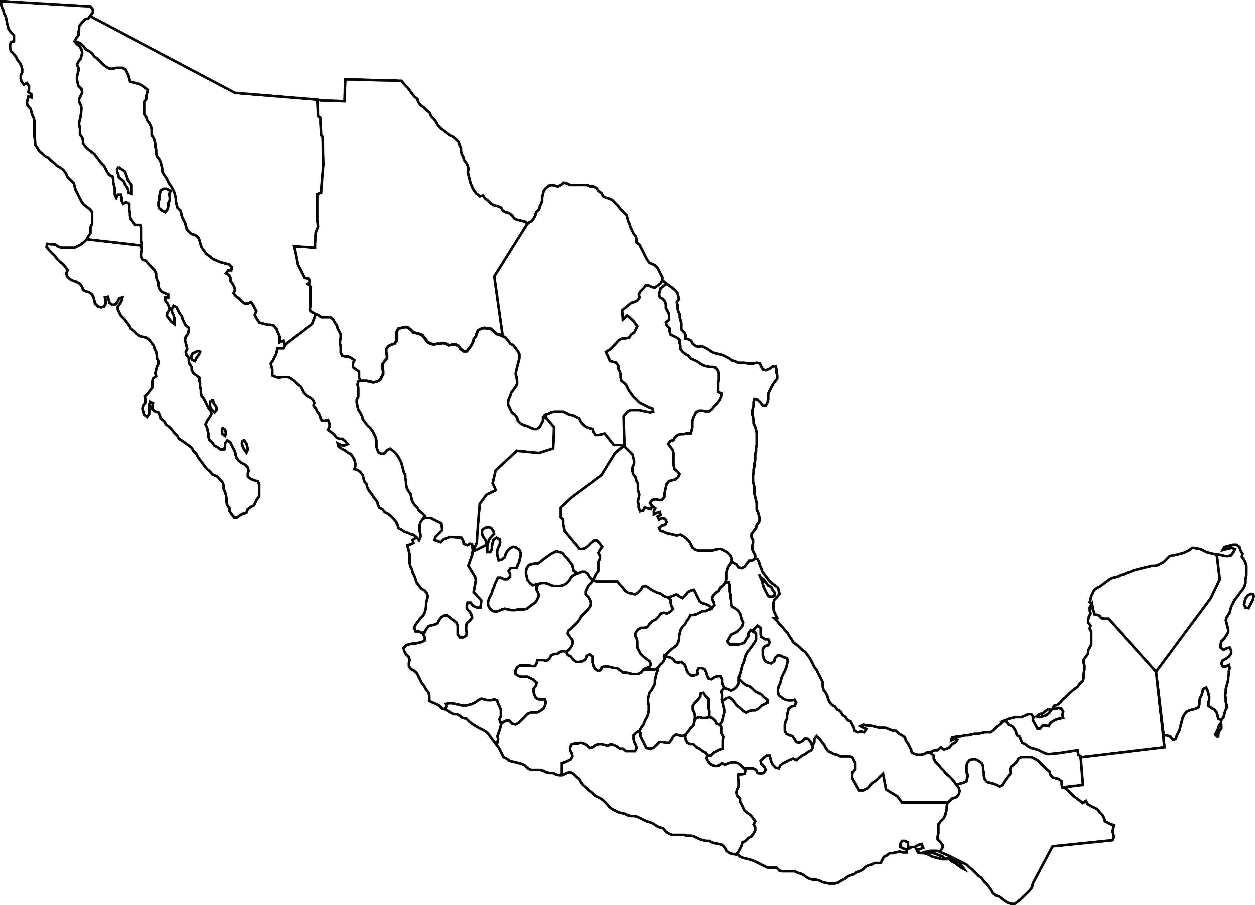 Map Of Mexico Clipart.
