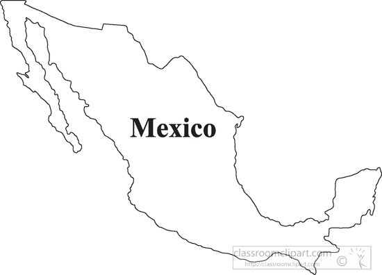 19 Map Of Mexico Graphic Black And White Download Huge.