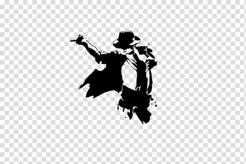 Michael Jackson stencil illustration, Silhouette Drawing Art.