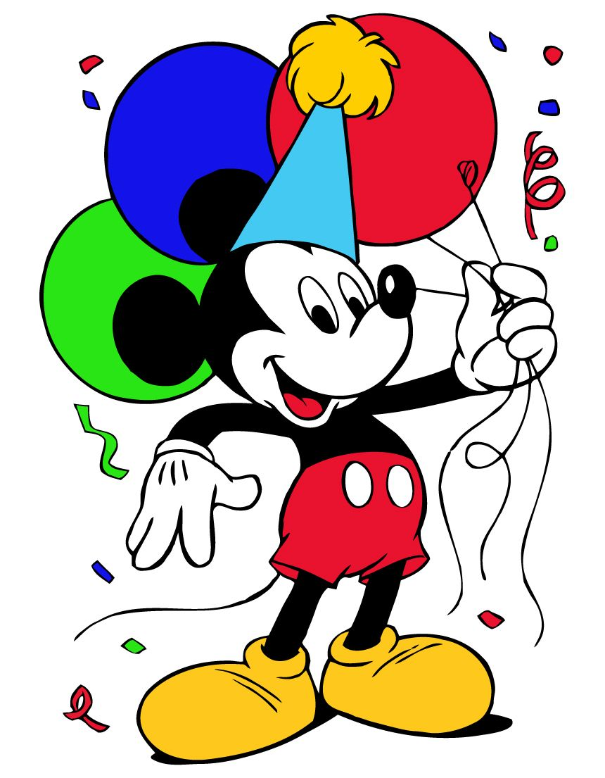 Mickey Mouse Birthday Clipart Clipart Panda Free Clipart.