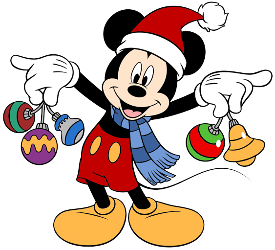 Mickey Mouse Christmas Clip Art Images.