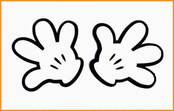 Mickey Mouse Gloves Clipart.