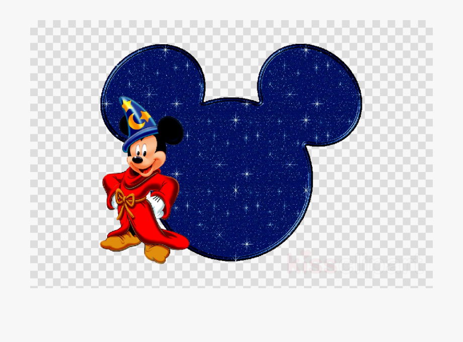 Download Mickey Mouse Head Background Blue Clipart.