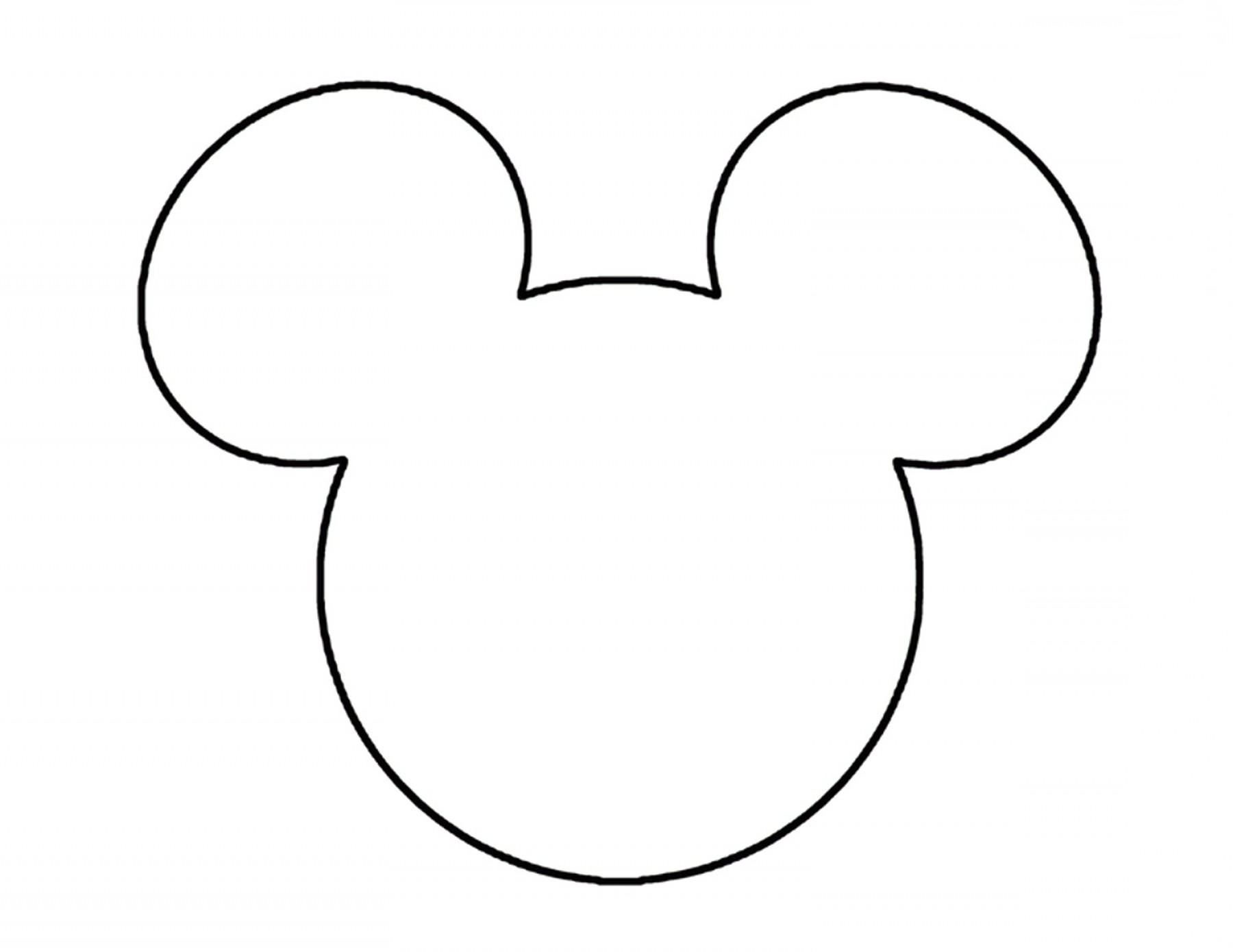 Mickey Mouse Ears Head Outline Disneyland Pinterest Clipart.