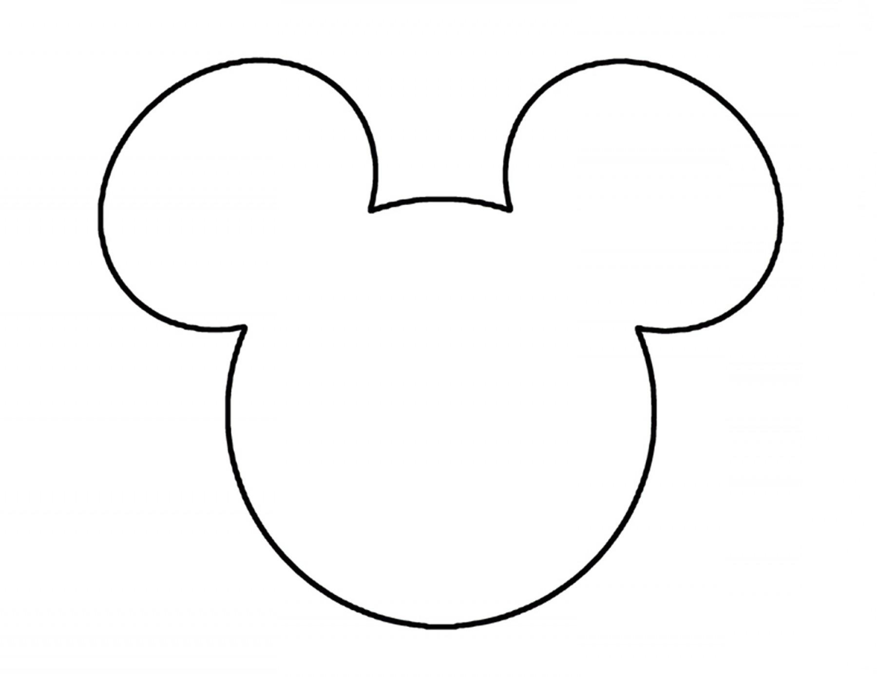Mickey Mouse Ears Head Outline Disneyland Pinterest Clipart.