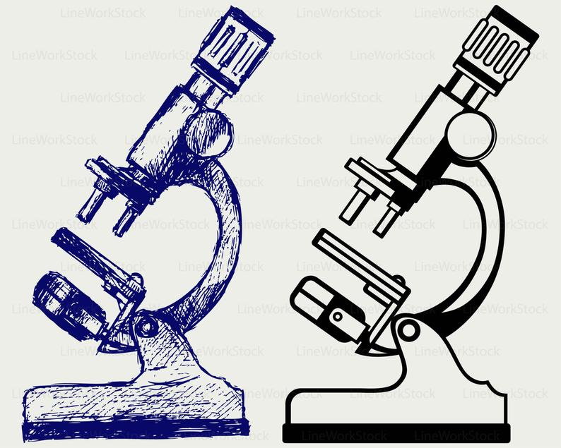 Microscope svg/microscope clipart/microscope svg/microscope  silhouette/microscope cricut cut files/clip art/digital download designs/svg.