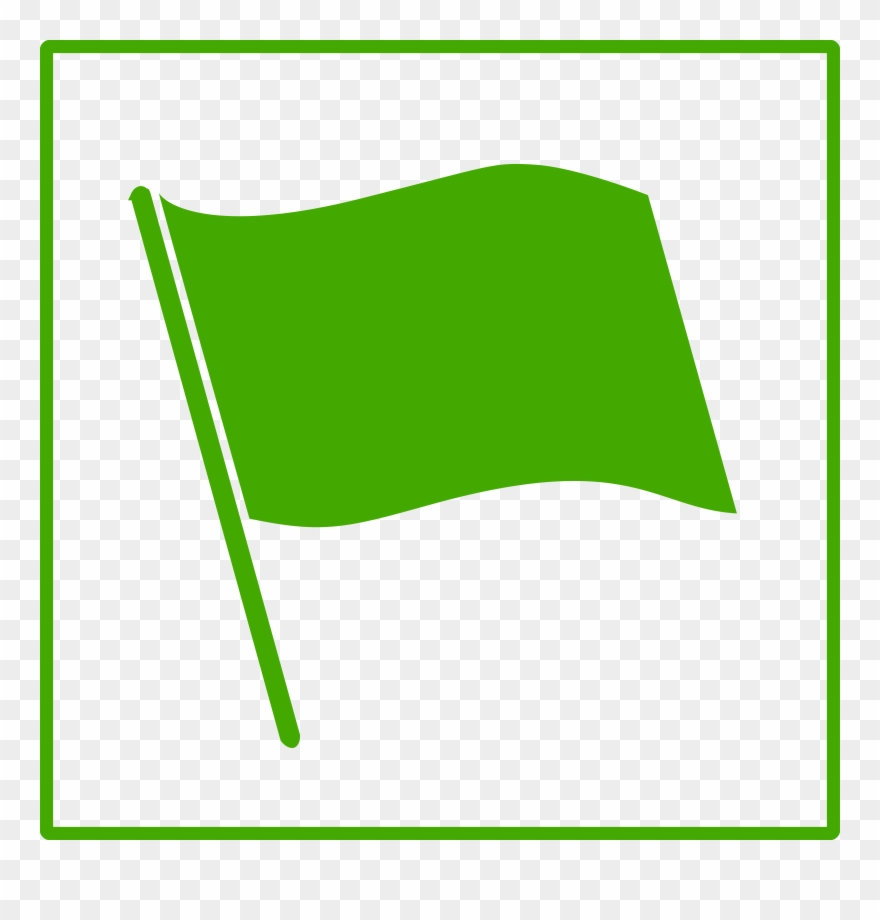 Clipart Eco Green Flag Icon Microsoft Powerpoint 2013.