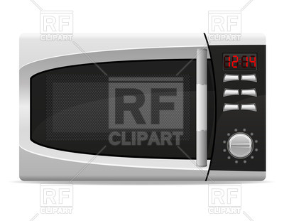 Microwave oven with electronically controlled Vector Image.