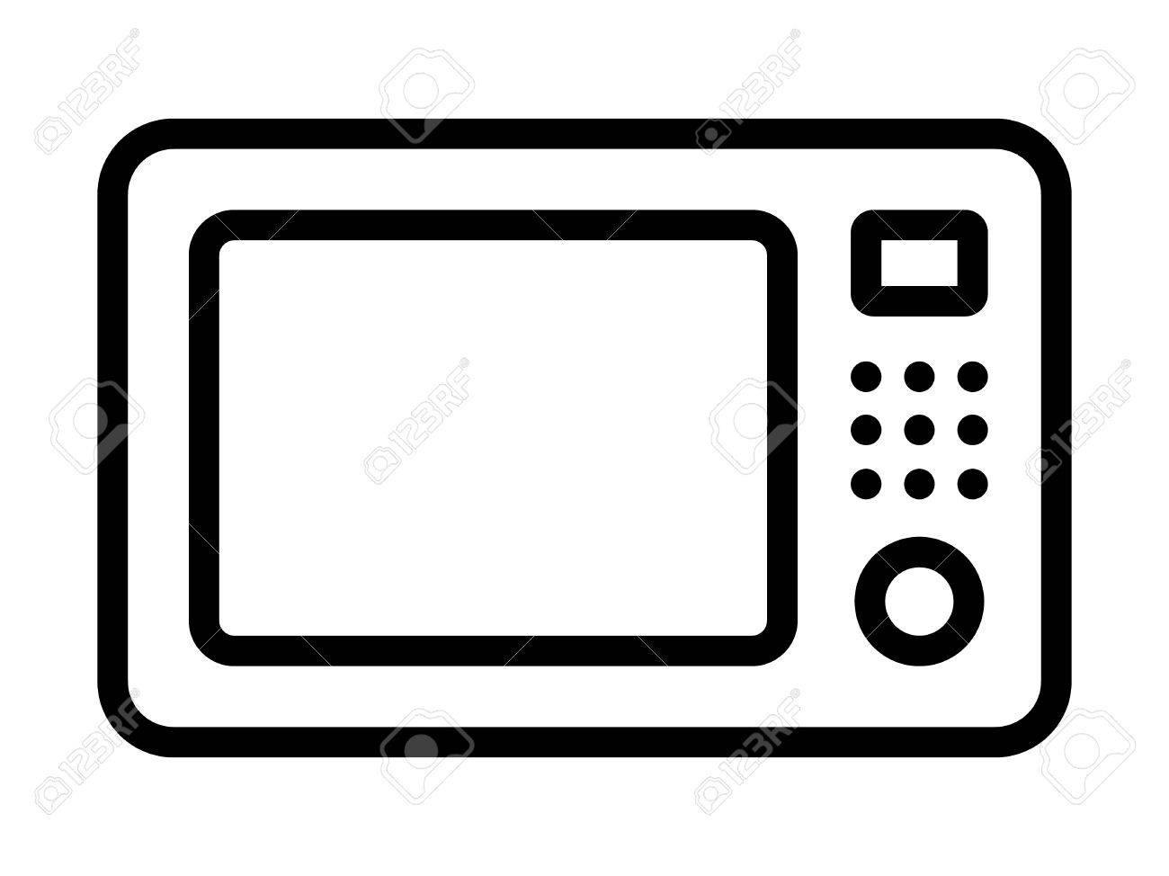 Microwave Oven Clipart.