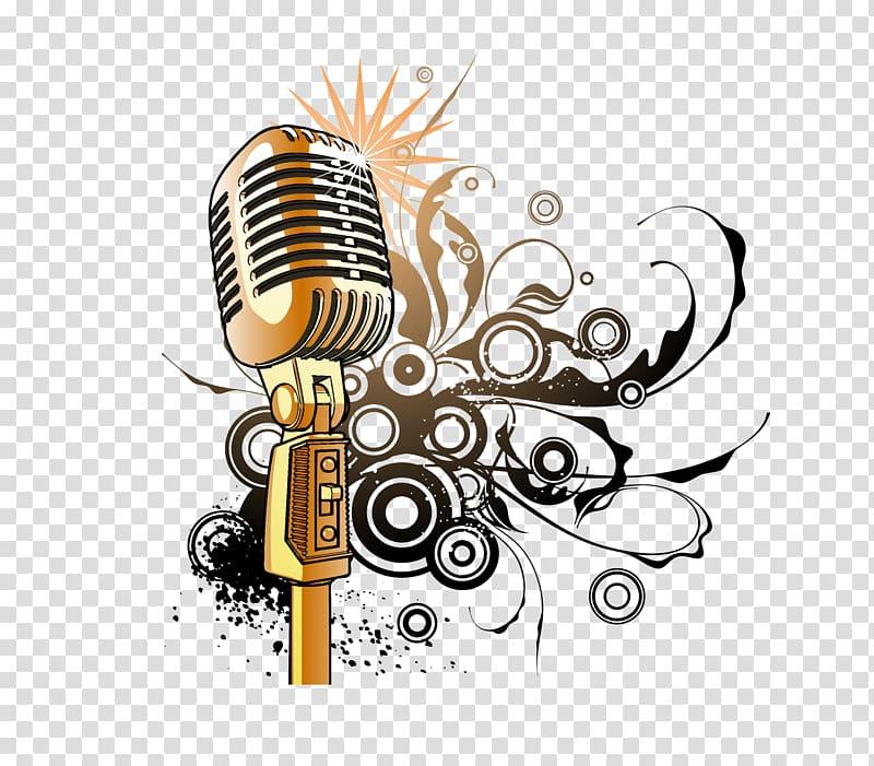 Clipart studio golden microphone, Clipart studio golden.