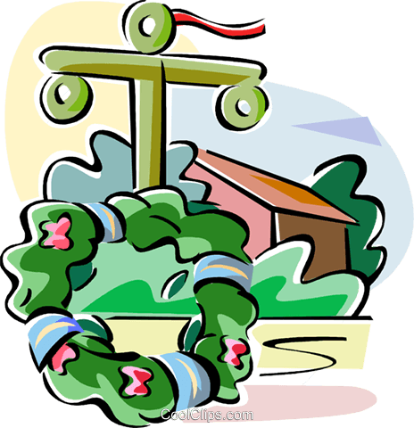 Swedish Midsummer wreaths Royalty Free Vector Clip Art.