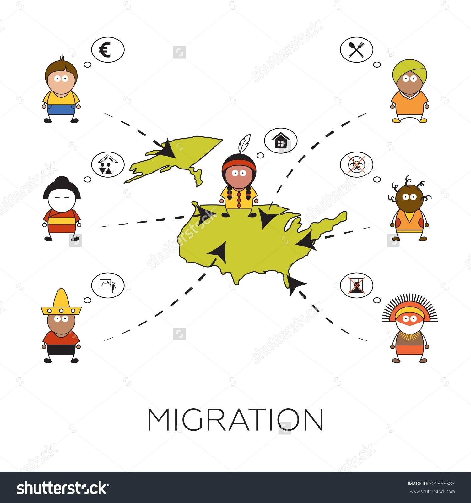 Migration of people clipart 6 » Clipart Portal.