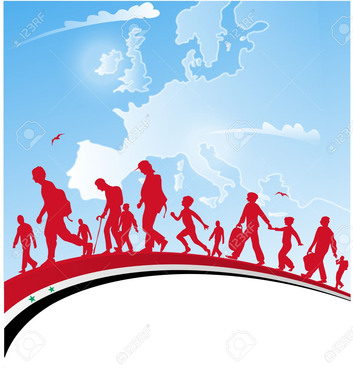 Migration of people clipart 6 » Clipart Station.