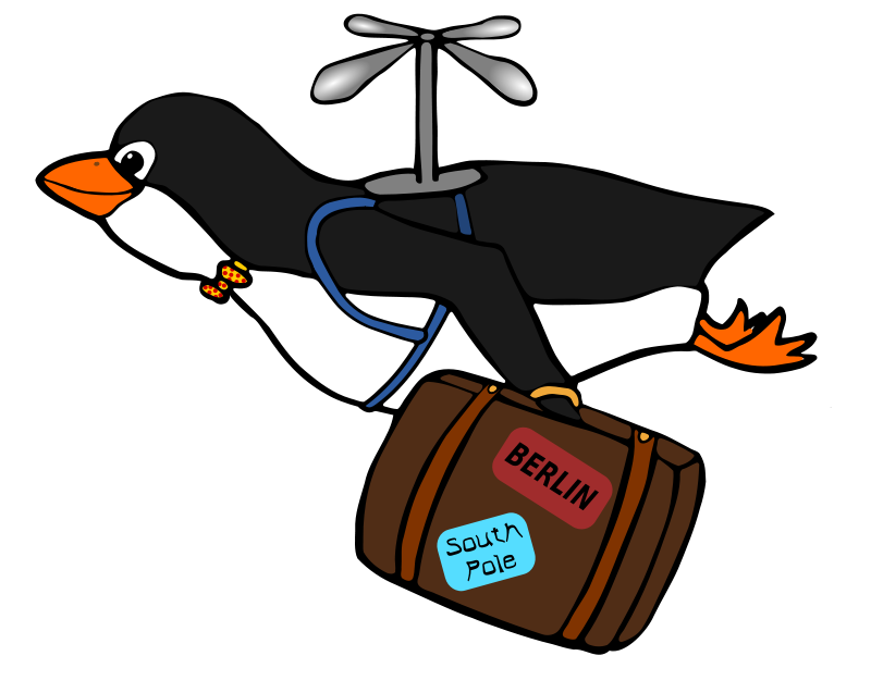 Free Clipart: Migrating Penguin.
