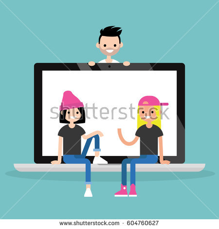 Millennial Icon Stock Images, Royalty.