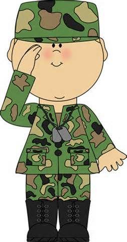 Soldier Saluting Clip Art Image.