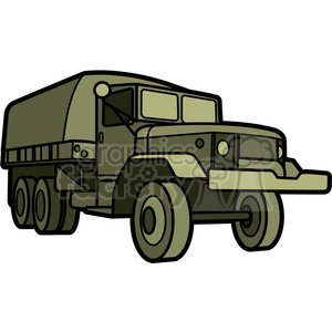 military armored transport vehicle clipart. Royalty.