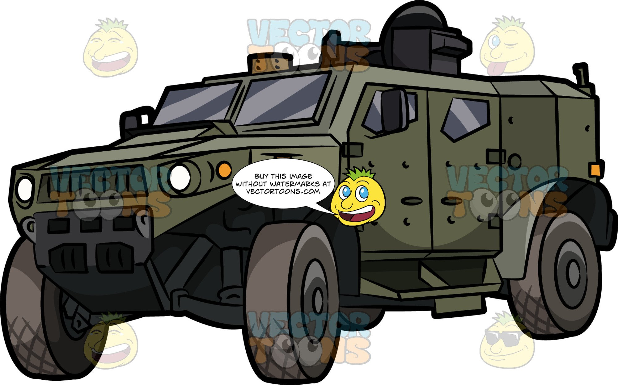 An Armored Military Patrol Vehicle.