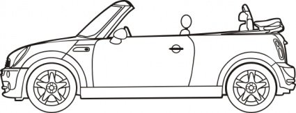 Mini Car Clip Art, Vector Mini Car.
