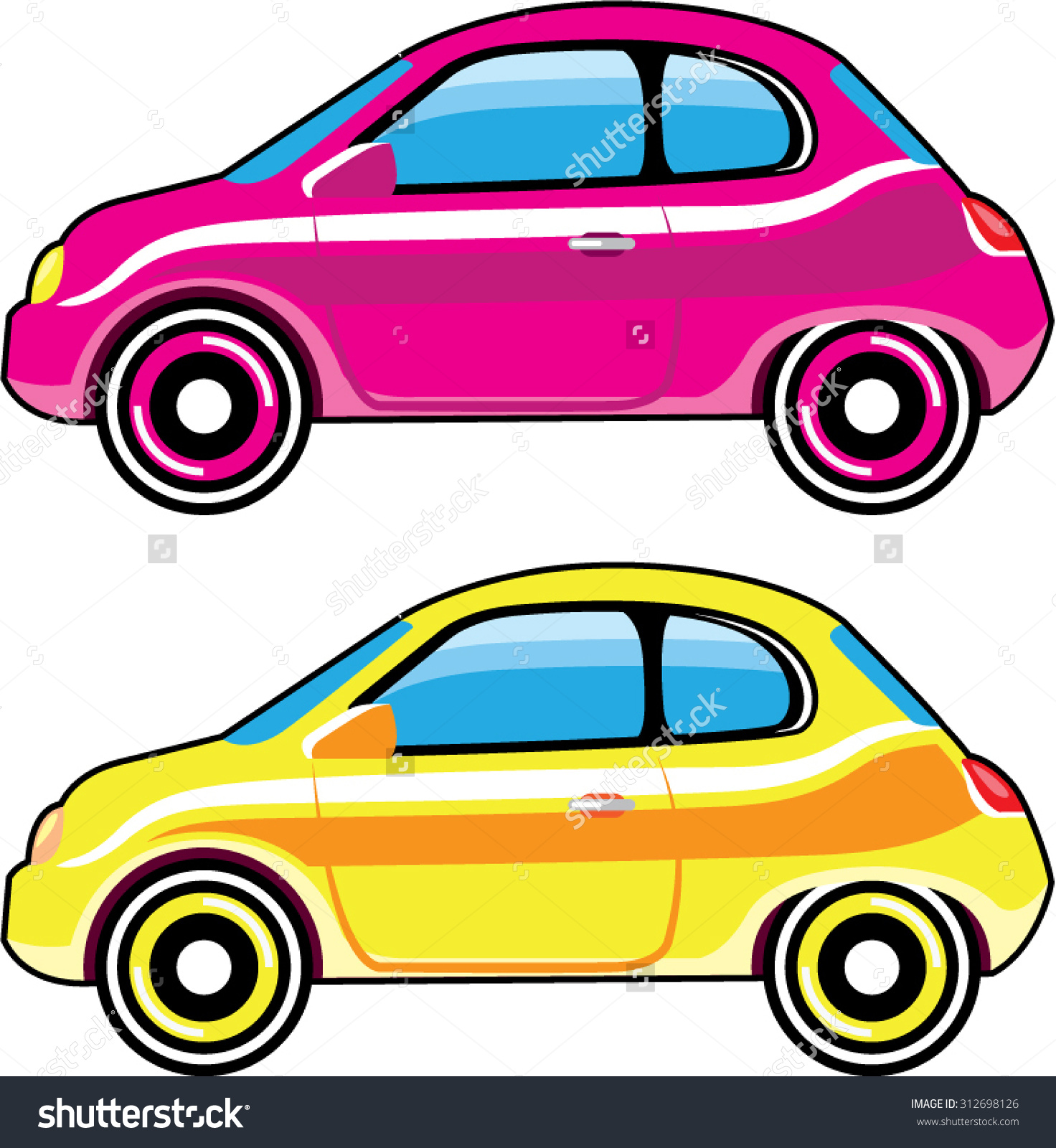 Tiny Tiny Small Car Mini Vehicle Stock Vector 312698126.