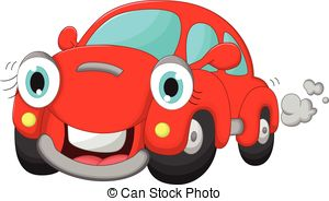 Vector Illustration of Cute car.