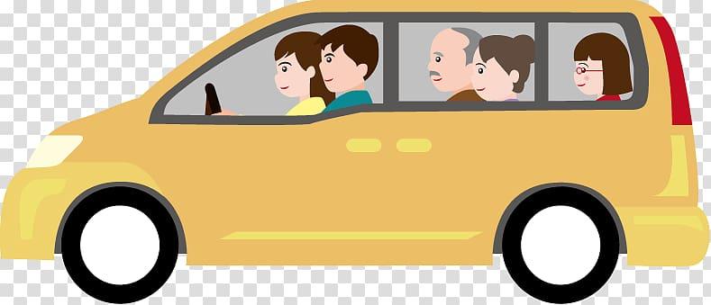 Family car Minivan , Mini Van transparent background PNG.