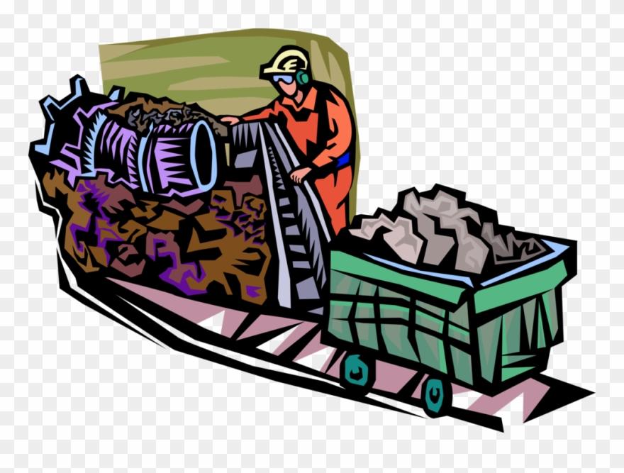 Vector Illustration Of Coal Mining Industry Mineral.