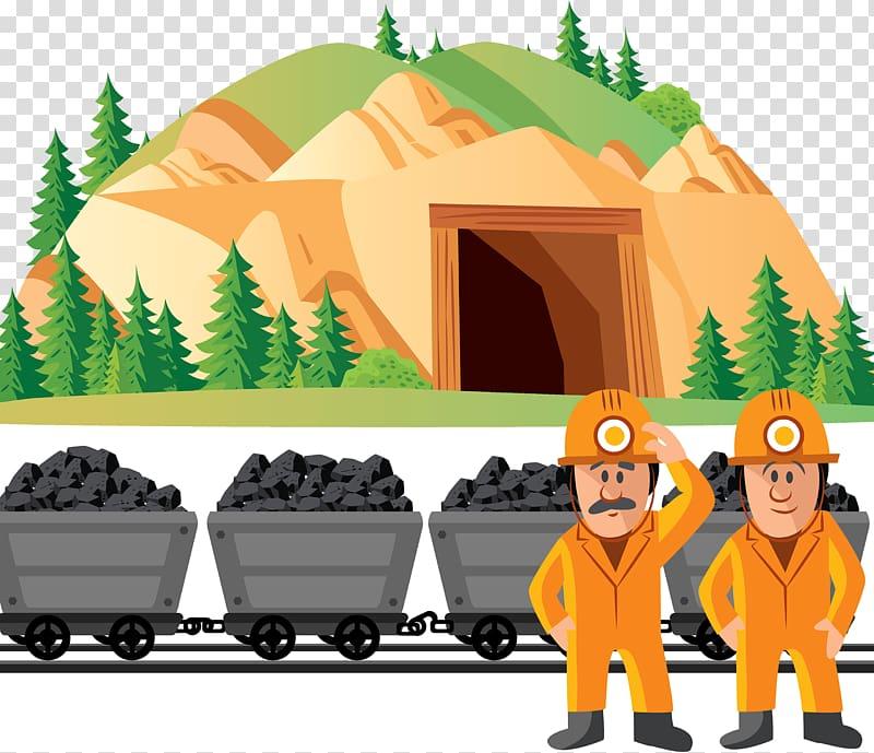 Coal mining mine, Coal mine illustration transparent.