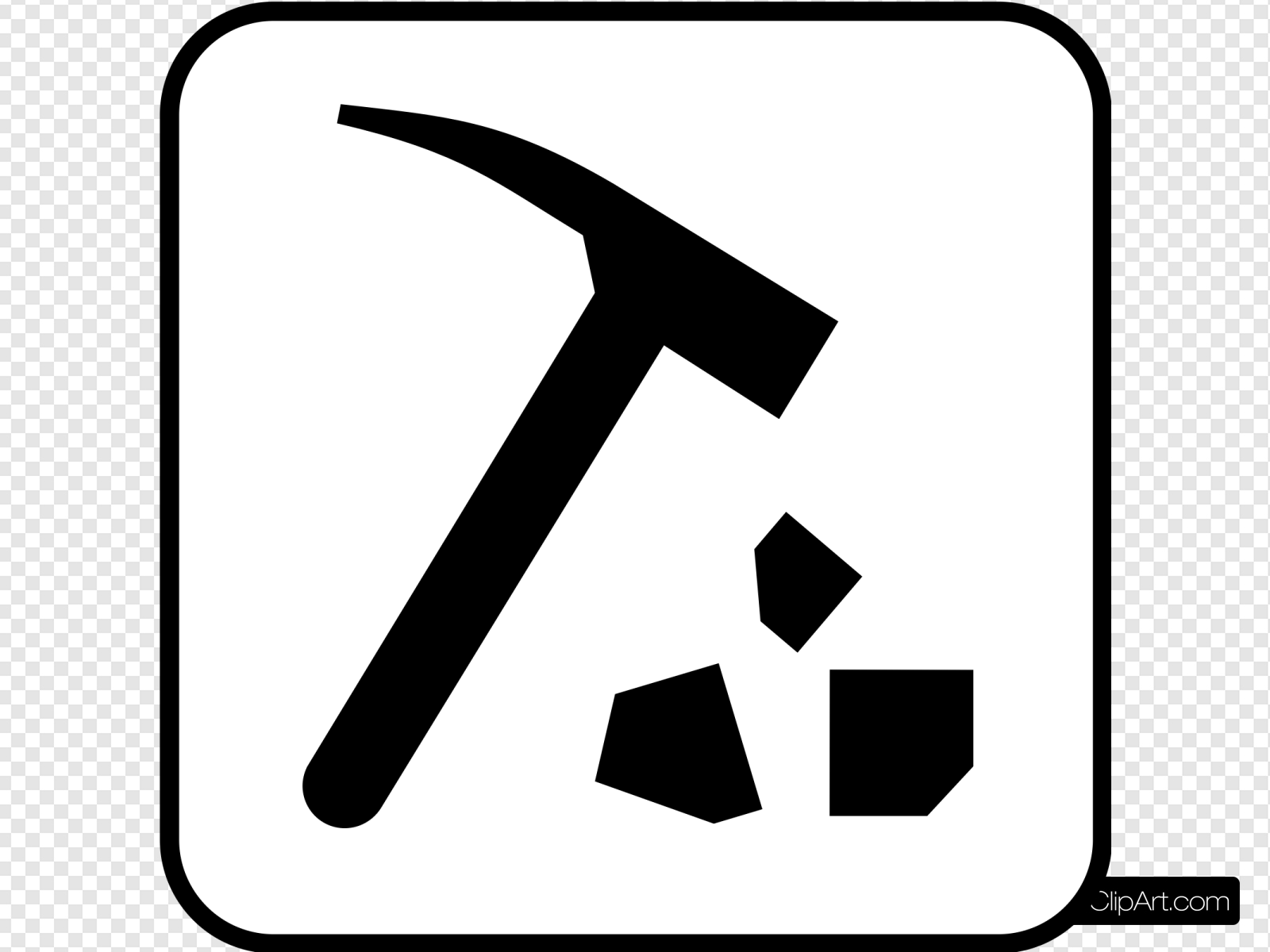 Mining Or Rock Breaking Clip art, Icon and SVG.