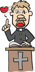 Clipart Illustration of a Minister.
