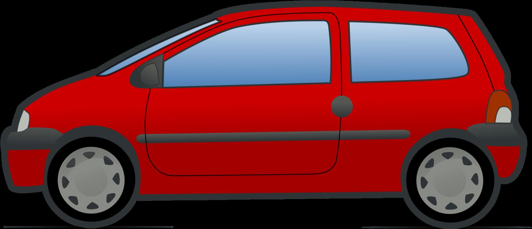 Minivan Cartoon Renault Twingo.