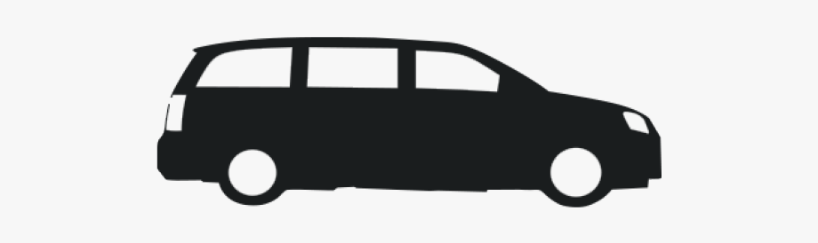 Black And White Minivan Clipart , Transparent Cartoon, Free.
