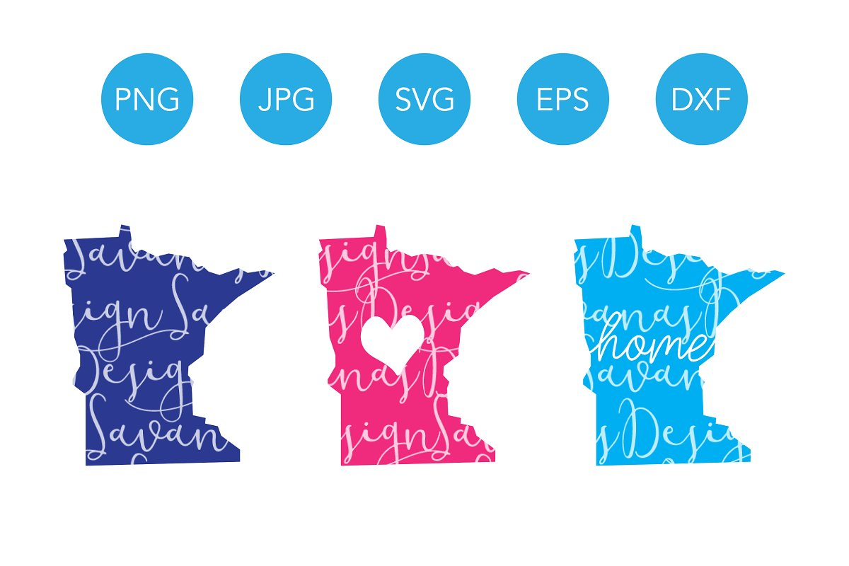 Minnesota SVG Cut Files and Clipart.
