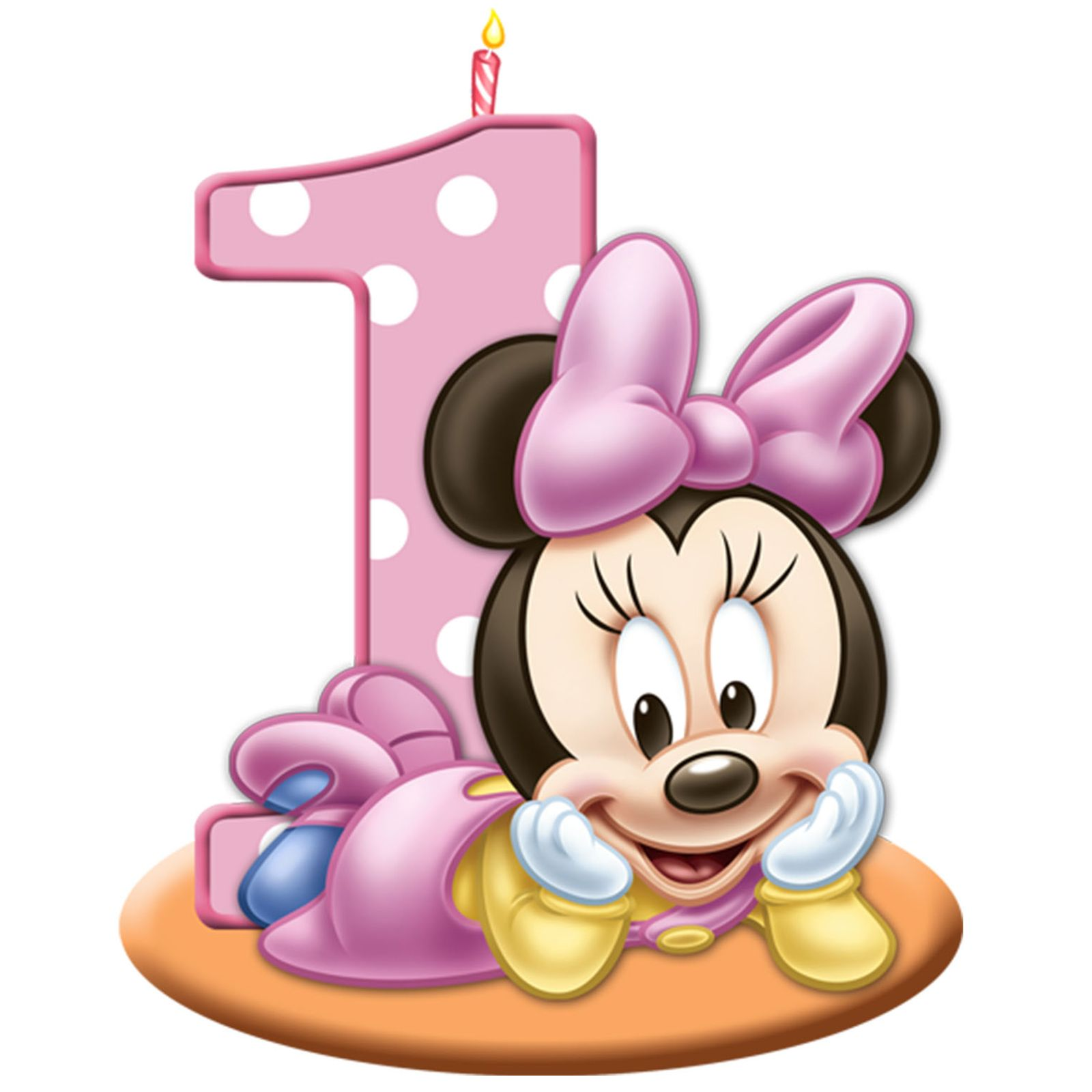 Baby Minnie Mouse 1st Birthday Clipart.
