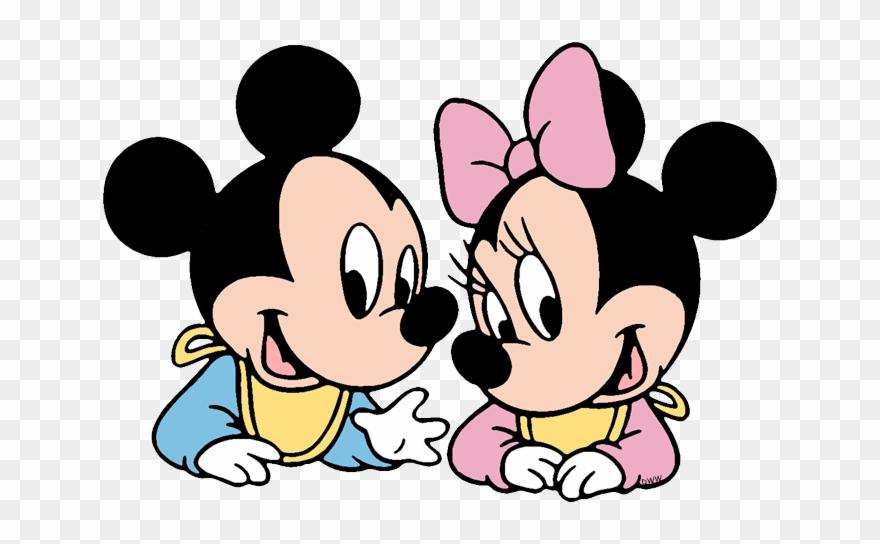 Stuffed Rabbit Baby Mickey, Baby Minnie.