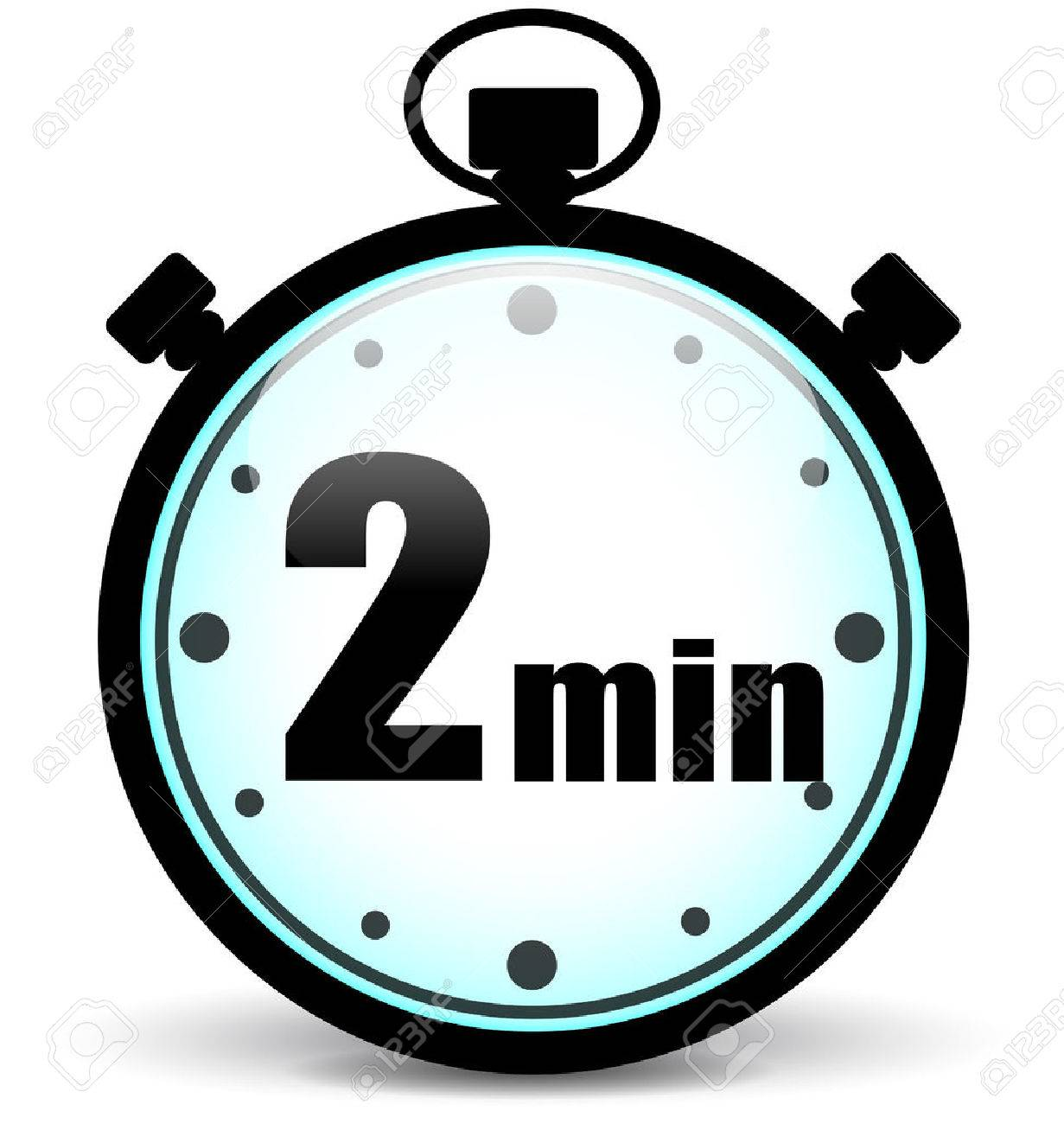 2 Minute Timer Clipart.