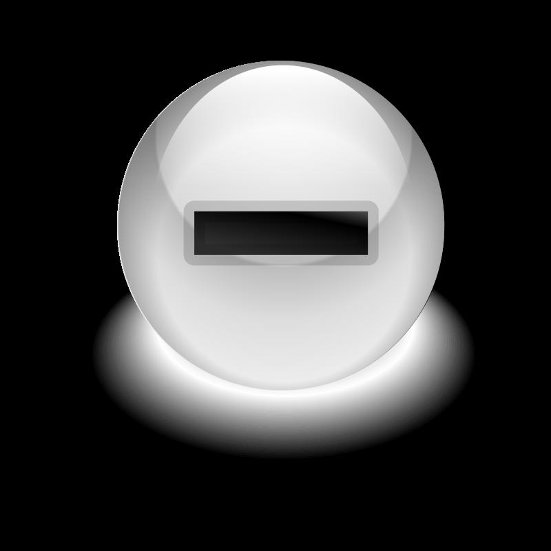 Free Clipart: Minus Button.