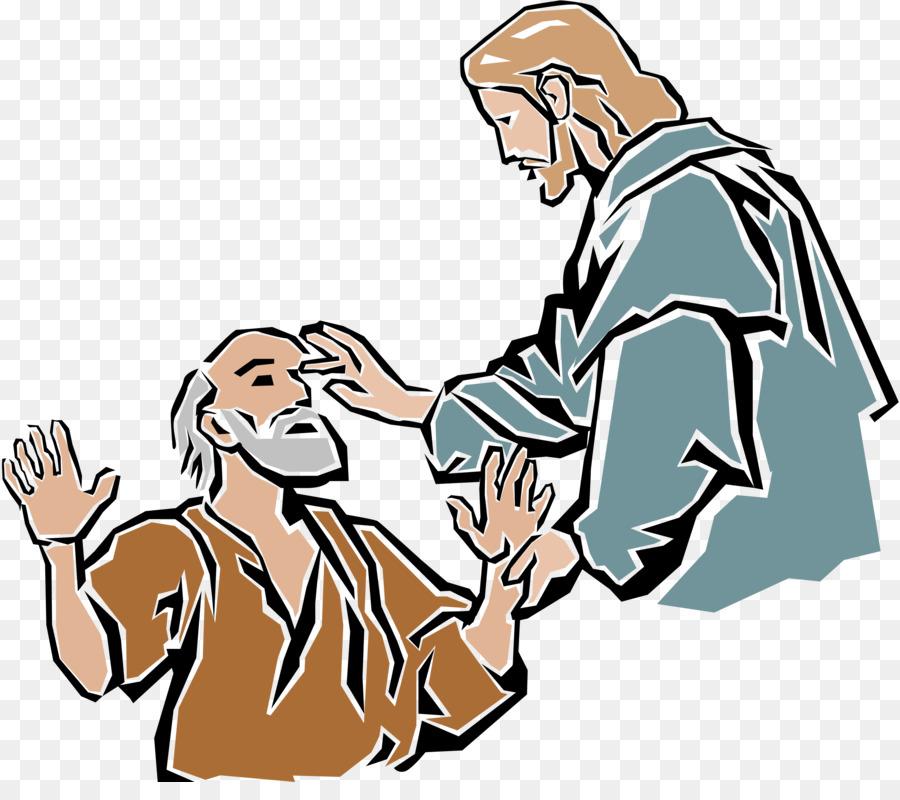 Miracles of Jesus Healing Bible Clip art.