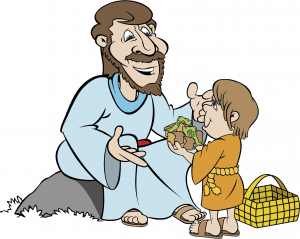 Feeding the multitude Miracles of Jesus Bible Clip art.