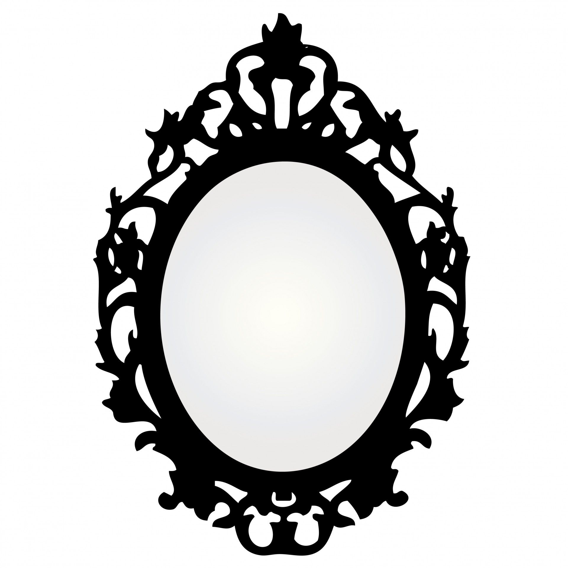Mirror With Ornate Frame.