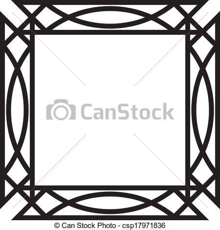Vectors of Abstract mirror frame project on transparency.