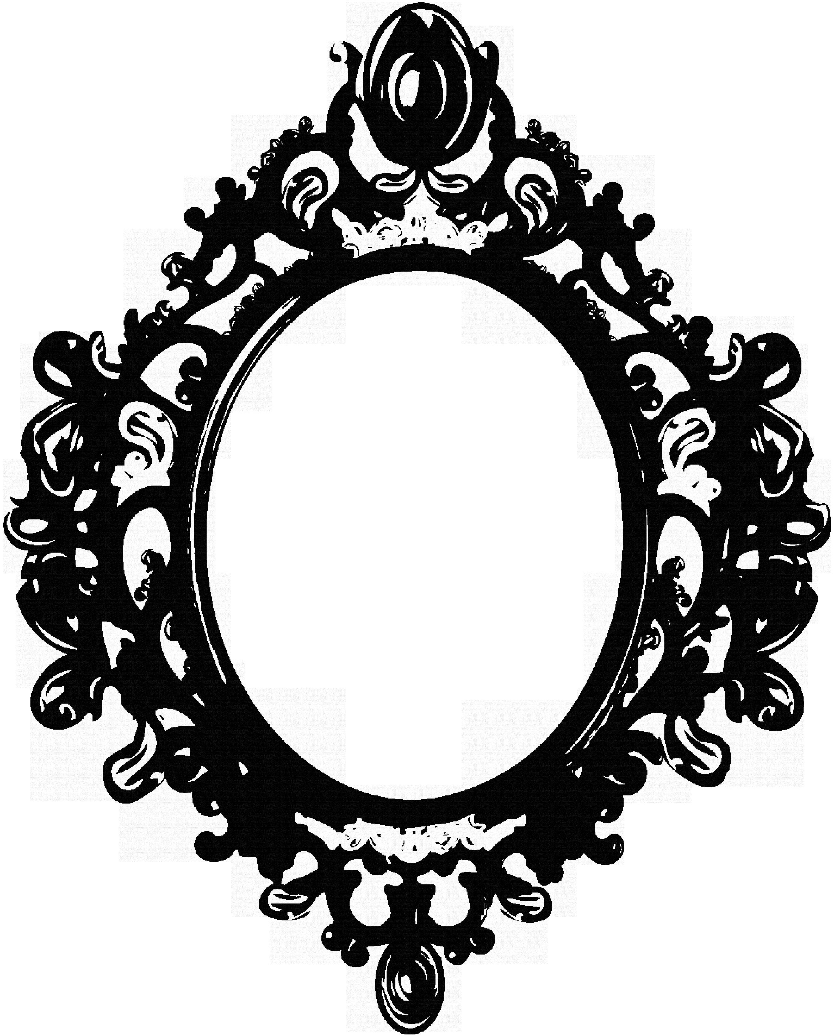 Clipart Mirror Frame.