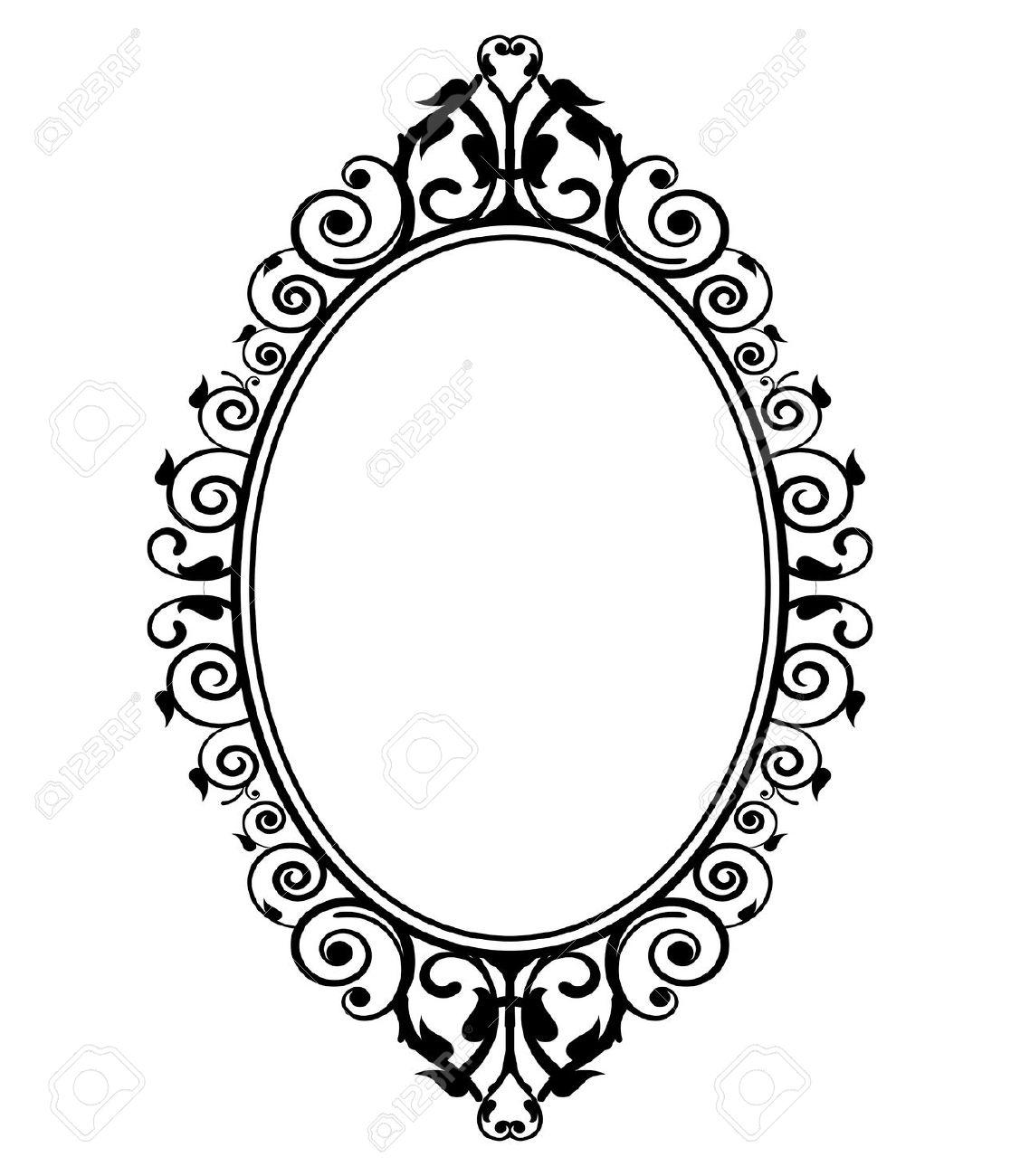 Mirror Frame Clipart.