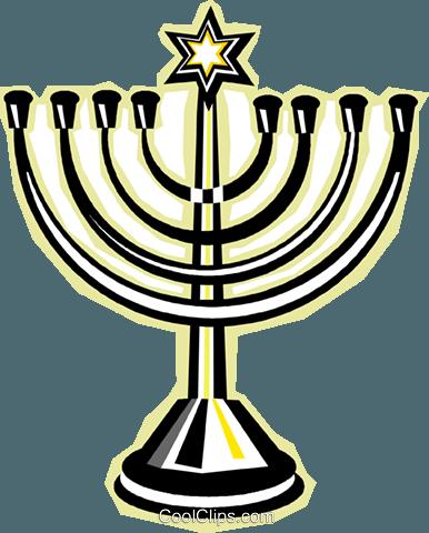 menorah Royalty Free Vector Clip Art illustration vc015793.